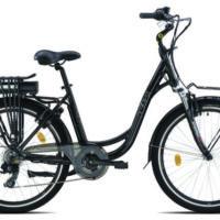 """Bicicletta E-Bike Olympia """"Energo'"""" 26 Alluminio Donna Colore Nera"""