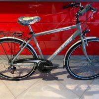 """Bicicletta City-Bike """"By Molinari """" Uomo Alluminio 18 V Misura 50 colore Argento Opaco Scuro"""