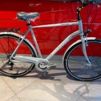 """Bicicletta City-Bike """"By Molinari """"Uomo  Alluminio 6 V Misura 58 colore Argento  Opaco Chiaro"""