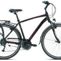 """Bicicletta City Bike Olympia Uomo""""City Go"""" 24 V Alluminio  Taglia L 54 Nera Lucida-Rossa 2021"""