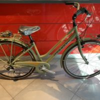 """Bicicletta City-Bike """"By Molinari """" Donna Alluminio 6 V colore Verde Militare Opaco"""