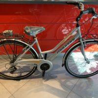 """Bicicletta City-Bike """"By Molinari """" Donna Alluminio 18 V colore Argento Lucido"""