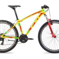 """Bicicletta Mtb 27,5 """"Frera FXC""""Alluminio Telaio Misura 48 Gialla-Rossa-Verde"""