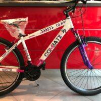 """3-Bicicletta Mtb 27,5 """"Brera Combat """"Alluminio 21 V Telaio 43 Misura Bianco-Ciclamino"""
