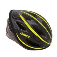 Casco Bicicletta Ciclo per Adulto marca Mvtek modello Radeon misura L 58-61 colore Nero Opaco – Giallo fluo