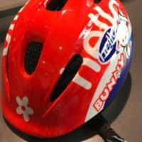 Casco Bicicletta Ciclo Bimba Atala modello Bunny misura XS-S 44-52 colore Rosso Bianco