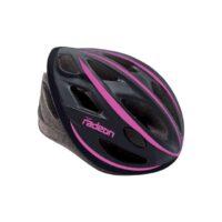 Casco Bicicletta Ciclo per Donna marca Mvtek modello Radeon misura L 58-61 colore Nero opaco – Fucsia