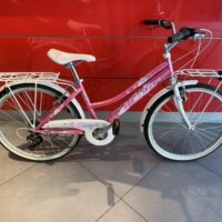 "Bicicletta Atala Mtb Donna ""Daisy"" Ruota 24 Acciaio 6 V  Colore Rosa-Bianca"