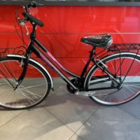 "Bicicletta City-Bike ""By Molinari "" Donna Alluminio 6  V colore Nero Opaco-Rosa"