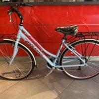"""Bicicletta City-Bike """"By Molinari """" Donna Alluminio 6  V colore Azzurra Lucida -Rosa"""
