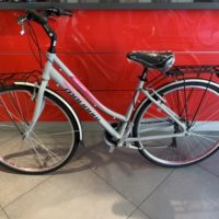 """Bicicletta City-Bike """"By Molinari """" Donna Alluminio 6  V colore Argento Lucida -Rosa"""
