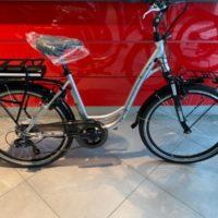 """Bicicletta E-Bike Olympia """"Energo'"""" 26 Alluminio Donna Colore Argento Opaco"""