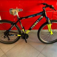 """Bicicletta Mtb 27,5 """"Brera Combat """"Alluminio 21 V Telaio 48 Misura Nero-Giallo-Blu"""