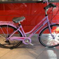 """Bicicletta City-Bike """"By Molinari """" Donna Alluminio 6  V colore Viola  Opaco Chiaro"""