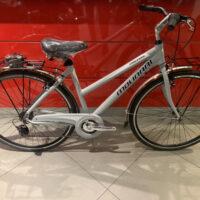 """Bicicletta City-Bike Telaio Sportivo """"By Molinari """" Donna Alluminio 6 V Telaio 50 colore Argento  Lucido"""