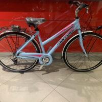 """Bicicletta City-Bike Telaio Sportivo """"By Molinari """" Donna Alluminio 6  V Telaio 50 colore Azzurro Lucido"""