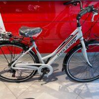 """1-Bicicletta City-Bike """"By Molinari """" Donna Alluminio 6 V Misura 50 colore Argento Lucido"""