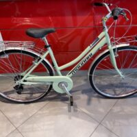"2-Bicicletta City-Bike ""By Molinari "" Donna Alluminio 6  V colore Verde  Lucida"
