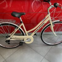 """2-Bicicletta City-Bike  """"By Molinari """" Donna Alluminio 6 V Telaio 43 colore Panna   Lucido"""