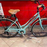 """1-Bicicletta City-Bike """"By Molinari """" Donna Alluminio 6 V Misura Telaio 46 colore Verde Tiffany"""