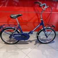 """Bicicletta Rollmar Pieghevole Donna """"LADY """" Ruota 20 Acciaio -1 Velocità Colore Blu Elettrico, NUOVA"""