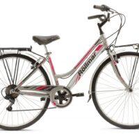 """Bicicletta City-Bike Marca Rollmar """"CLEVER"""" Donna Acciaio 6 V Misura 43 colore Antracite-Fucsia"""