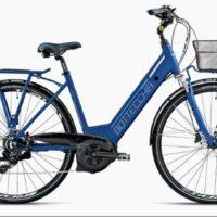 """Bicicletta E-Bike BOTTECCHIA  """"BE 17 TRK LADY'"""" 28 Motore Centrale Batteria Panasonic 470wh  Alluminio Donna Colore Blu Opaca ,"""