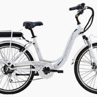 """92-Bicicletta E-Bike BOTTECCHIA  """"BE 11 TRK LADY'"""" 26 Alluminio Donna Colore Bianco  Lucido,"""
