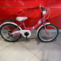 """Bicicletta Bimba  """"  Ruota 20 Pollici"""" -Acciaio  6 Velocità Colore Ciclamino"""