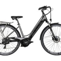 """Bicicletta E-Bike BOTTECCHIA  """"BE 19 TRK LADY'"""" 28 Motore Centrale Batteria Panasonic 500 wh  Alluminio Donna Argento-Antracite"""