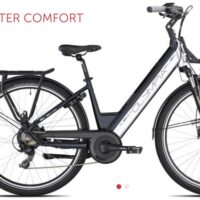 "1-Bicicletta E-Bike Olympia ""Super Roadster WOMAN 700 ""DONNA Colore Blu-Bianca, Batteria 480 Wh"