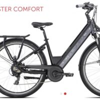 "1-Bicicletta E-Bike Olympia ""Super Roadster WOMAN 700 "" Donna Colore Nera-Antracite, Batteria 480 Wh"