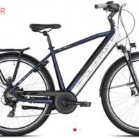 "Bicicletta E-Bike Olympia ""Super Roadster MAN 700 ""UOMO Donna Colore Blu-Bianca, Batteria 480 Wh"