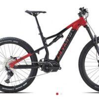 """1-Bicicletta Mtb E-Bike Full Olympia """"EX 900 Normale """" Motore Ananda 110 Nm Alluminio  Taglia L Colore Rossa-Nero"""