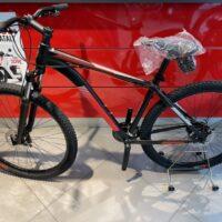 1-Bicicletta Mtb 29 Pollice Alluminio 21 V Telaio DISCO MECCANICO   Misura 48 Nero Opaco-Rossa