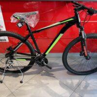 1-Bicicletta Mtb 29 Pollice Alluminio Disco Idraulico , 24 V Acera Telaio  Misura 48 Nero Opaco-Verde