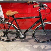 """1-Bicicletta City-Bike """"By Molinari """" Modello Retro'  Uomo Alluminio 7 V Taglia XXL Telaio  58  colore Nero Opaco"""