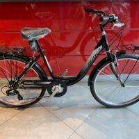 2-Bicicletta Spm 26  Monotubo -Accesso Facilitato Acciaio  – 6 Velocità Colore Nero Lucido