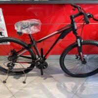 1-Bicicletta Mtb 27.5 Pollice Alluminio 21 V Telaio DISCO MECCANICO   Misura 38 Nero Opaco-Rossa