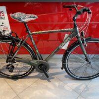 """1-Bicicletta City Bike """" Brera AMSTERDAM  7 Velocita' """",Misura Telaio 54  Alluminio UOMO Colore Antracite  Lucido-Verde"""