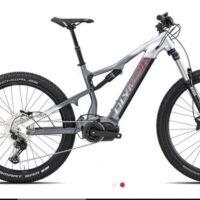 """1-Bicicletta Mtb E-Bike Full Olympia """"EX 900 Normale """" Motore Ananda 110 Nm Alluminio  Taglia L Colore Argento-Antracite"""
