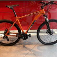 1-Bicicletta Mtb 29 Pollice Alluminio 21 V Telaio DISCO MECCANICO Misura 53 Arancione- Nero