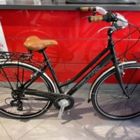 """1-Bicicletta City-Bike """"By Molinari """" Modello Retro'  Donna  Alluminio 7 V Taglia L Telaio  46  colore Nero Opaco"""