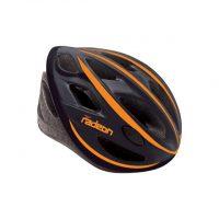 Casco Bicicletta Ciclo per Adulto marca Mvtek modello Radeon misura L 58-61 colore Nero Opaco – Arancio
