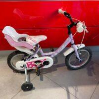 """Bicicletta Bimba Brera Modello BELLA  Ruota 14 Pollici""""-Acciaio -1 Velocità Colore Lilla"""