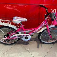 """1-Bicicletta Bimba Brera  """"KELLY""""  Ruota 20 Pollici""""Acciaio 6 Velocità Colore Rosa-Fuxia"""
