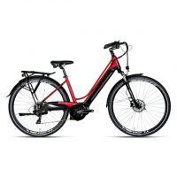 """Bicicletta E-Bike BOTTECCHIA  """"BE 19 TRK LADY'"""" 28 Motore Centrale Batteria Panasonic 500 wh  Motore Oli Alluminio Donna Rossa"""