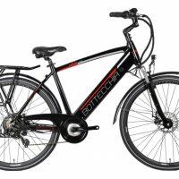 """1-Bicicletta E-Bike BOTTECCHIA  """"BE 16 TRK MAN'"""" 28 Alluminio Uomo  Colore Nero  Lucido-Rosso"""